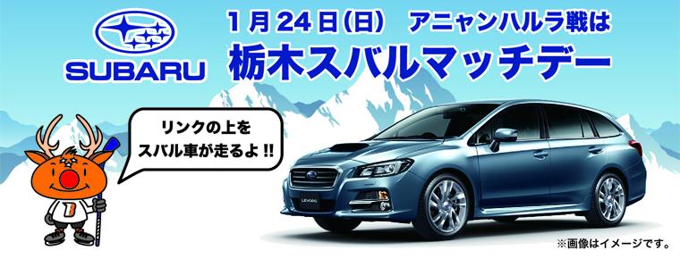 1月24日 「栃木スバルマッチデー」を開催