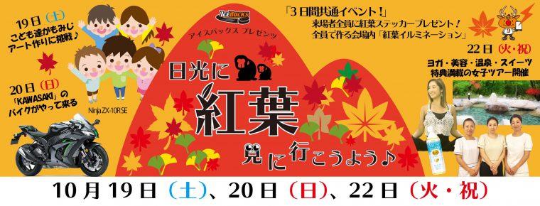 10月19~22日「日光に紅葉見に行こうよう」を開催