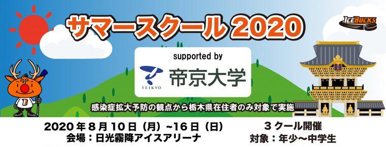 サマースクール2020 Supported by 帝京大学開催決定